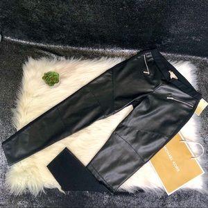 Michael Kors leather leggings